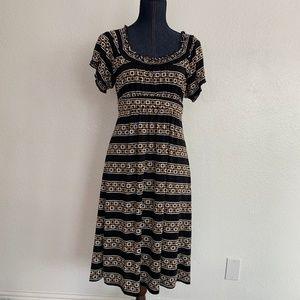 Spense, Dress, Black/Tan/White Size 10